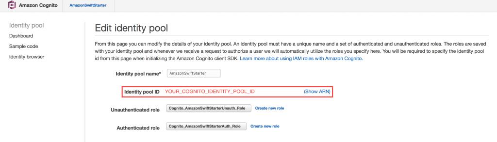 Edit IdentityPool